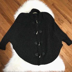 MICHAEL Michael Kors Gray Knit Poncho